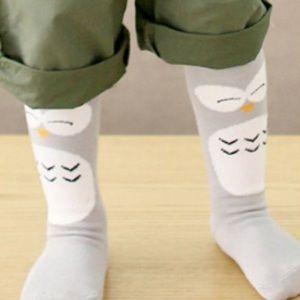 Adorable baby owl knee high socks